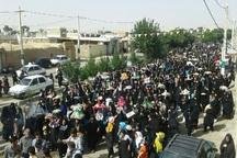 آیین مجمع گردانی در متین آباد نطنز برگزار شد
