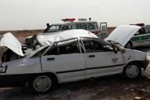 واژگونی پراید در جاده قزوین-بویین زهرا پنج مصدوم به جا گذاشت