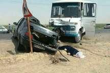 یک کشته در تصادف مینی بوس و پژو درشهرستان سرخس