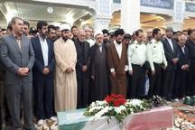 پیکر شهید نیروی انتظامی در اردبیل تشییع شد