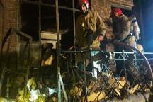 آتش سوزی خانه ای در تهران 3 مصدوم برجا گذاشت