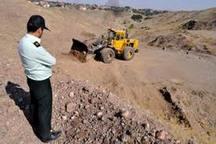 تصرفات غیرمجاز در اراضی خورشید و ده غیبی مشهد تخریب شد