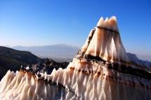 بازدید اعضای خانه فرهنگ و هنر دشتستان از اثر طبیعی گنبد نمکی