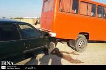 تصادف سرویس مدرسه در خرم آباد 6 مصدوم بر جا گذاشت