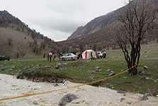 نجات چهار خانوار از سیلاب منطقه کلدر خرم آباد