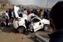 تصادف در کرج با 2 کشته و یک مصدوم همراه شد