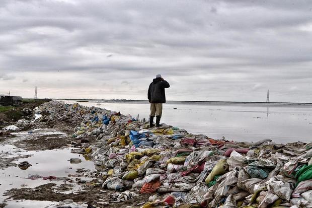 اینجا گمیشان است، مردم با این سد حریف سیل شدند+ عکس