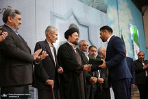 آیین نامگذاری مجموعه ورزشی «استاد کهندل»، پدر کشتی فرنگی ایران، با حضور سید حسن خمینی
