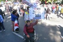 فریاد استکبارستیزی دانش آموزان گنبدی با شعار مرگ بر آمریکا