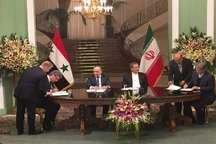 پنج سند همکاری بین ایران و سوریه امضا شد