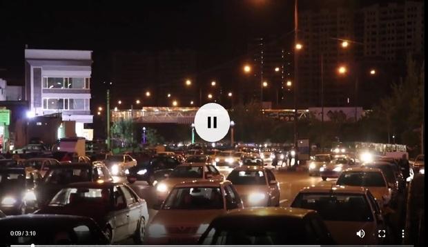 ویدیو  ترافیک ورودی پارک های تبریز در شبهای گرم تابستان