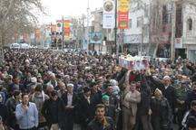 پیکر شهید 'حسین جودانه' در شاهرود تشییع شد