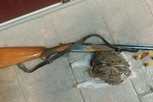 شکارچی غیرمجاز در شهرستان البرز دستگیر شد