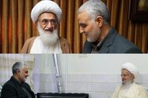 دیدار سردار سلیمانی با مراجع عظام تقلید