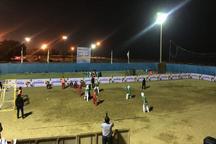 نتایج نخستین روز رقابت های هندبال ساحلی بانوان کشور مشخص شد