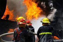 ساختمان تجاری در غرب تهران آتش گرفت