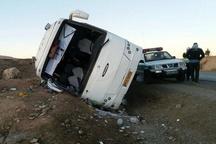 حادثه تصادف اتوبوس با کامیون در محور گناباد- تربت حیدریه  13 نفر کشته و زخمی شدند