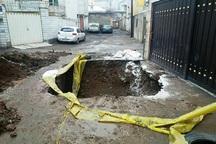 10 مورد نشست زمین در محلات قزوین مرمت شد