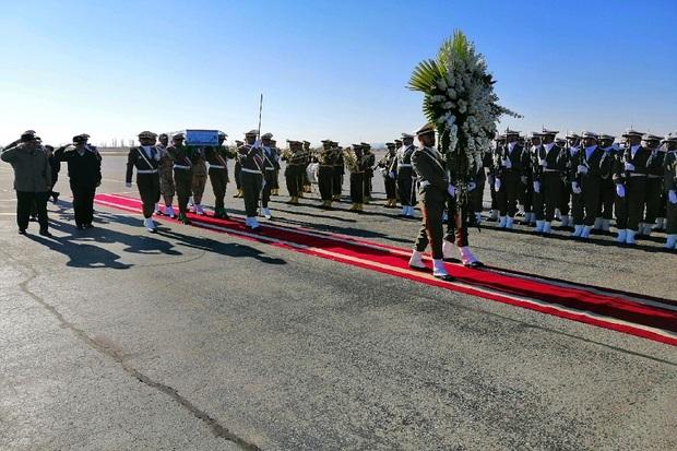 آیین استقبال از شهید گمنام دفاع مقدس در ارومیه برگزار شد