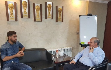 دیدار جهانبخش با رئیس فدراسیون فوتبال قبل از سفر به انگلیس