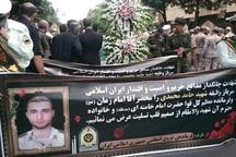 پیکر شهید نیروی انتظامی در تبریز تشییع شد
