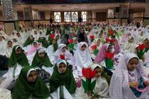 جشن عبادت 1800 دانش آموزان دخترپایه سوم ابتدایی بروجرد برگزارشد