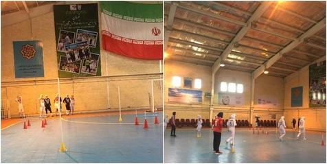 تصویری از تمرین تیمملی فوتسال بانوان برای حضور در رقابت های ترکمنستان