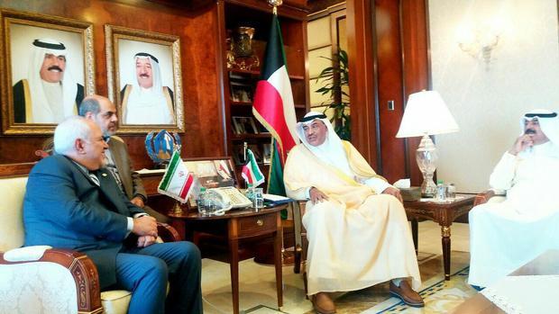 ظریف با وزیر خارجه کویت دیدار کرد