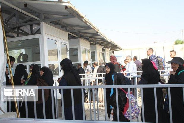 بیش از پنج هزار زائر از مرز خسروی عبور کردند