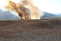 آتش سوزی تالاب منطقه حفاظت شده شیرین بهار مهار شد