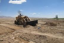 بیش از 22 هزار متر مربع از اراضی کهنوج رفع تصرف شد
