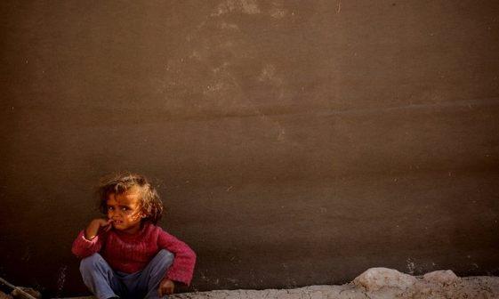کودک الرقه+ عکس