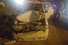 حادثه رانندگی در زرندیه 10مصدوم و یک کشته داشت