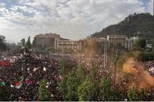 تظاهرات یک میلیون معترض در پایتخت شیلی+تصاویر