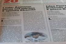 گاتزتا دلواسپورت ؛پرونده آزمون روی میز لاتزیو