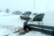 مسدود شدن محور توسکستان و خوش ییلاق شاهرود به دلیل بارش برف