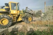 8 مورد ساخت و ساز غیرمجاز در اراضی کشاورزی ورامین تخریب شد