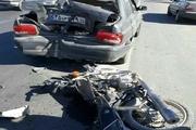 کشته شدن راکب موتور سوار بر اثر تصادف در قزوین