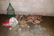 صیاد غیرمجاز ماهی در بیجار دستگیر شد