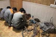 دستگیری 10 سارق سیم و کابل برق در کهنوج