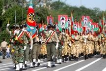 رژه حماسی و نمایش اقتدار نیروهای مسلح در اهواز برگزار شد
