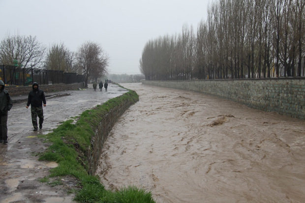 66 رودخانه در استان قزوین طغیان کرده است