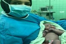 مادر دیابتی در مشگین شهر نوزاد 5.5 کیلوگرمی بدنیا آورد