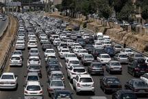 ترافیک در محورهای خروجی شرق تهران سنگین است