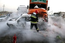 41 مصدوم و یک فوتی حاصل 11 فقره تصادف در روز 13 فروردین