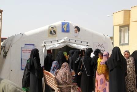 راهاندازی بیمارستان صحرایی در جزیره لارک  ویزیت رایگان بیماران