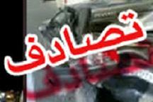 ۷ کشته در برخورد یک دستگاه پراید با سمند  سرنشینان دو خودرو در آتش سوختند