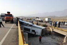 واژگونی اتوبوس در جاده کلات یک کشته داشت