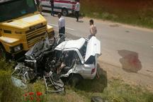 کشته شدن 4 نفر در تصادف محور خدابنده-بیجار