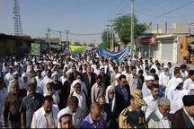 راهپیمایی روز جهانی قدس در ایرانشهر برگزار شد
